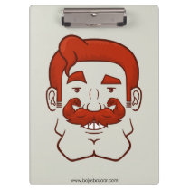 Strongstache (Straight Red Hair) Clipboard