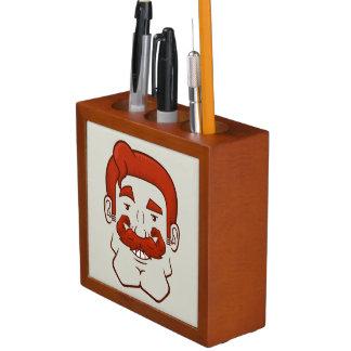 Strongstache (Straight Red Hair) Pencil/Pen Holder