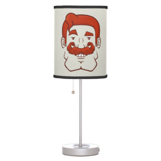 Strongstache (Straight Red Hair) Table Lamp