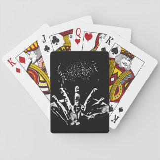Stronh Hands Playing Cards