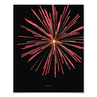 Strontium Firework Photo Print