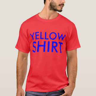"""Stroop effect """"yellow shirt"""" blue ink on red shirt"""