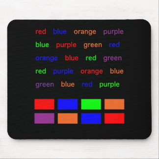 Stroop Test Mouse Pad