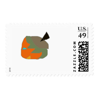 Strow character comedic from cartoon postage