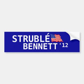 Strublé for president. car bumper sticker