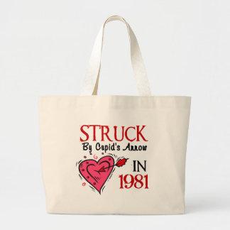 Struck By Cupid's Arrow In 1981 Jumbo Tote Bag