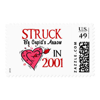 Struck By Cupid's Arrow In 2001 Postage