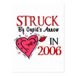Struck By Cupid's Arrow In 2006 Postcard