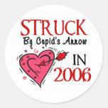 Struck By Cupid's Arrow In 2006 Sticker