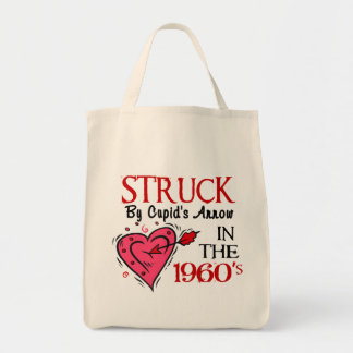 Struck With Cupid's Arrow In The 1960's Grocery Tote Bag