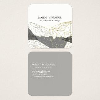 Structural Design Minimalist Modern Geometric Square Business Card