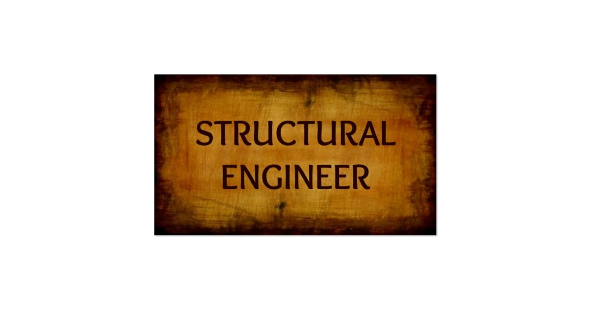 Structural engineer antique brushed business card zazzle for I need a structural engineer