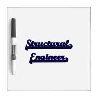 Structural Engineer Classic Job Design Dry Erase Board