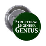 Structural Engineer Genius Gifts Pins