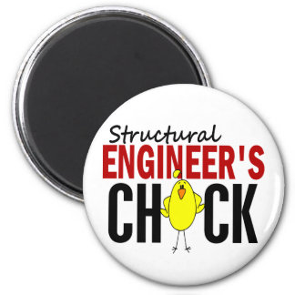 Structural Engineer's Chick 2 Inch Round Magnet