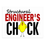 Structural Engineer's Chick Postcard