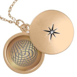 Structural Steel Globe Locket Necklace