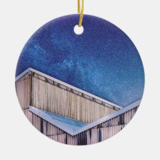 Structure And Stars Ceramic Ornament
