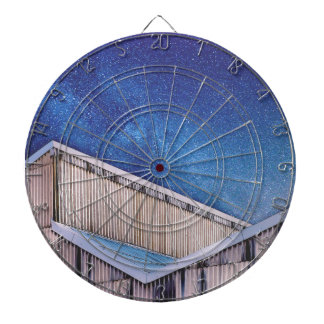 Structure And Stars Dartboard With Darts
