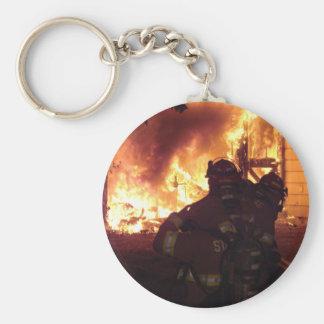Structure Fire Basic Round Button Keychain