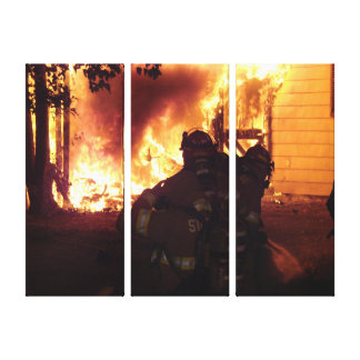 Structure Fire Canvas Print