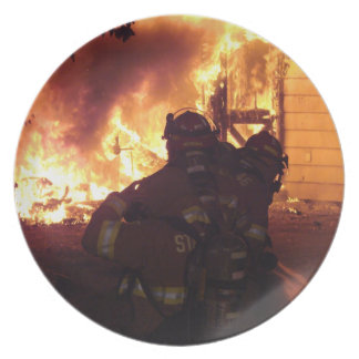 Structure Fire Dinner Plate