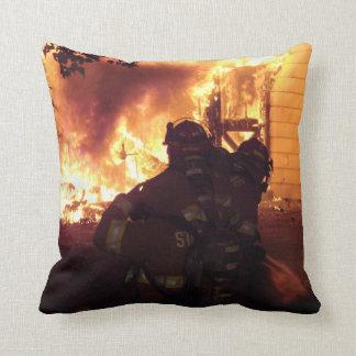 Structure Fire Throw Pillows