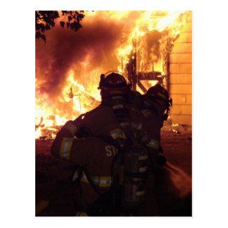 Structure Fire Postcard