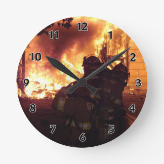 Structure Fire Round Clock