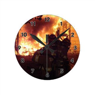 Structure Fire Round Clock
