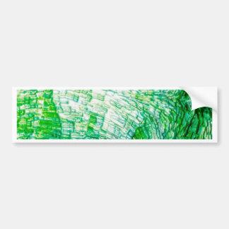 structure green car bumper sticker