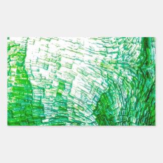 structure green rectangular sticker