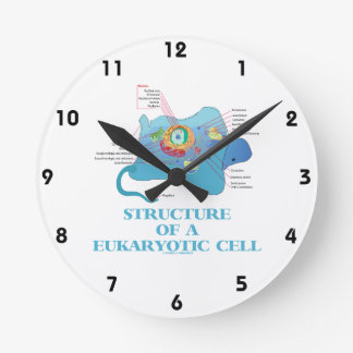 Structure Of A Eukaryotic Cell (Eukaryote) Round Clock