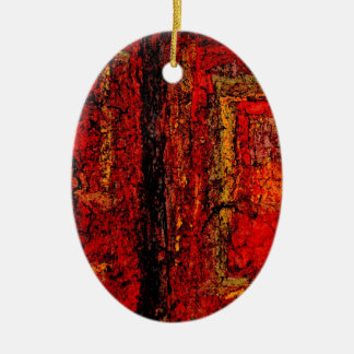 Structure Red African Abstract Ceramic Ornament