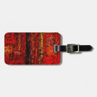 Structure Red African Abstract Luggage Tag