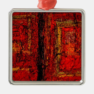 Structure Red African Abstract Metal Ornament