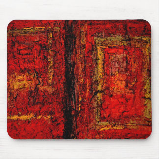 Structure Red African Abstract Mouse Pad