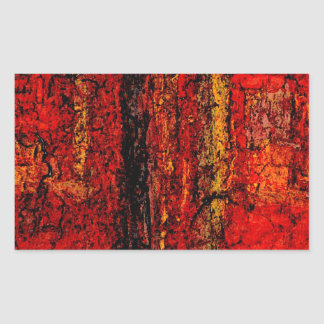 Structure Red African Abstract Rectangular Sticker