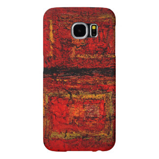 Structure Red African Abstract Samsung Galaxy S6 Case
