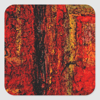 Structure Red African Abstract Square Sticker