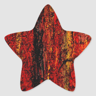 Structure Red African Abstract Star Sticker