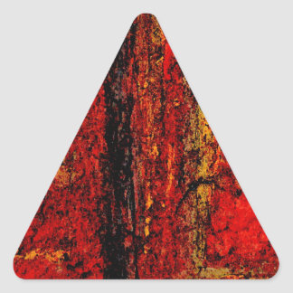 Structure Red African Abstract Triangle Sticker