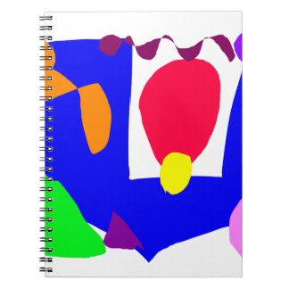 Structure Red Egg Playground Slim Snake Spiral Notebook