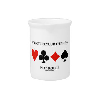 Structure Your Thinking Play Bridge (Card Suits) Beverage Pitchers