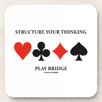Structure Your Thinking Play Bridge (Card Suits) Drink Coasters