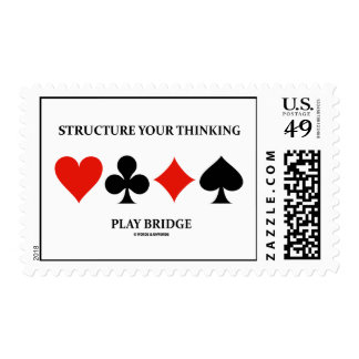 Structure Your Thinking Play Bridge (Card Suits) Postage