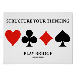 Structure Your Thinking Play Bridge (Card Suits) Poster