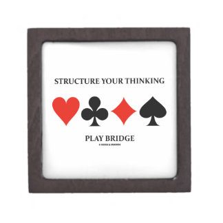 Structure Your Thinking Play Bridge (Card Suits) Premium Trinket Boxes