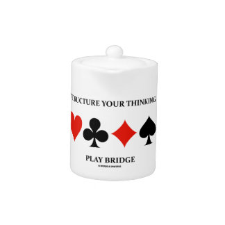 Structure Your Thinking Play Bridge (Card Suits) Teapot