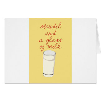 Strudel And A Glass Of Milk Card